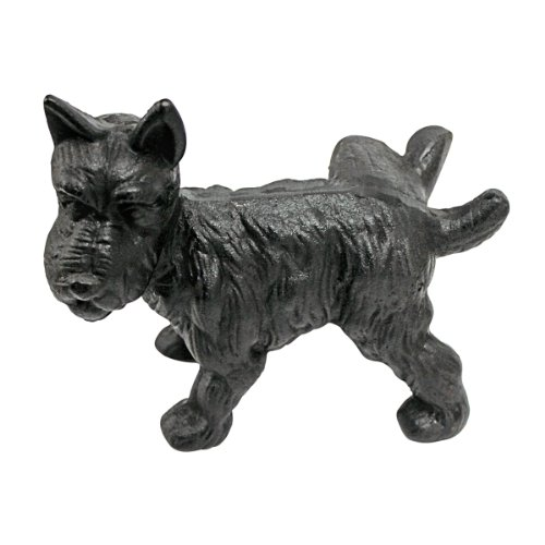Design Toscano Naughty Peeing Scotty Dog Die-Cast Iron Bookend and -