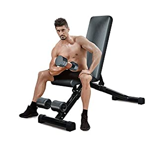 Urchin Adjustable Strength Training Bench for Full Body Multi-Functional Workout Exercise Dumbbell Bench Press Work Out GYM Weight Entryway Bench