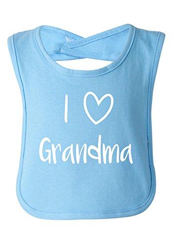 Baby Shower Gifts Grandma (Strange Cargo I Love Grandma Cute Baby Bib Baby Shower Gift Light Blue)