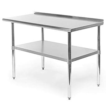 Easy&FunDeals - Mesa de acero inoxidable para trabajos pesados con ...