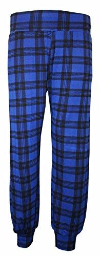 AHR LTD. - Pantalón - para mujer Blue Tartan