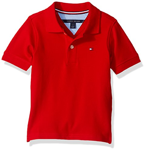 Tommy Hilfiger Little Boys' Stretch Ivy Polo, Regal Red, 5