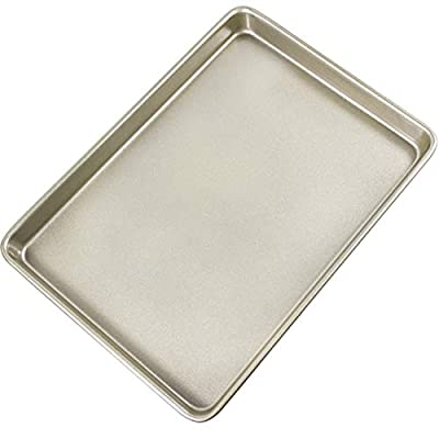 Non-Stick Quarter Sheet Pan, Carbon Steel Baking Cookie Sheet Jelly Roll Pan 13x9.25-Inch