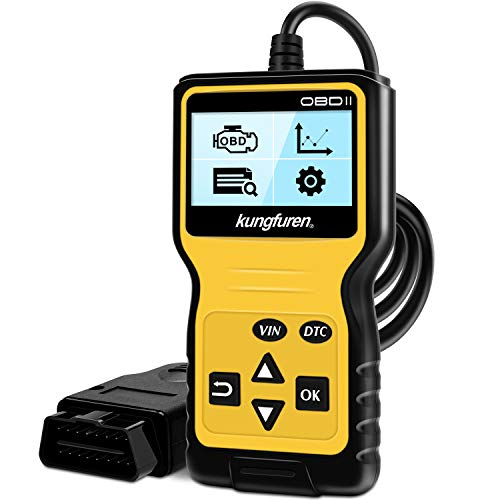 Kungfuren Obd2 Scanner Universal Obd2 Code Reader Car Automotive Check Engine Light Error Analyzer Auto Can Vehicle Diagnostic Scan Tool For Obdii Protocol Cars Since 1996