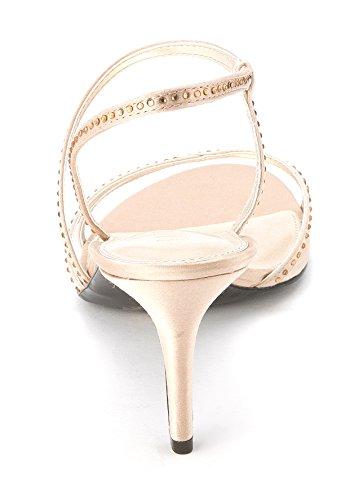 LAUREN by Ralph Lauren - Sandalias de vestir para mujer champán