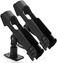 2 Pack Adjustable Powerlock Rod Holder with Combo Mount, Black Finish