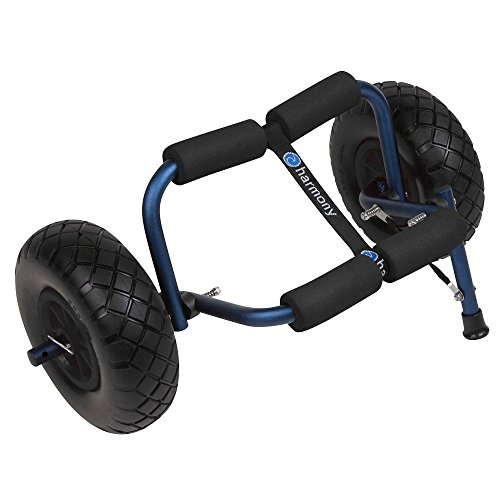 Beach Cart Tires (Harmony Gear Stowaway Cart with Beach Wheels (Wide Pneumatic Tires))