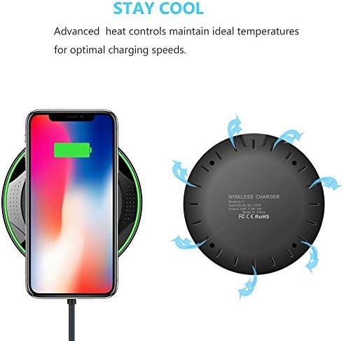 2パックのワイヤレス充電器、iPhone 11/11のPro / X/のX最大/XR / 8プラス/サムスンS10 / S10 + / S9 / S9 + / S8 + /注9、より互換性パッドを、充電チー10W高速ワイヤレス