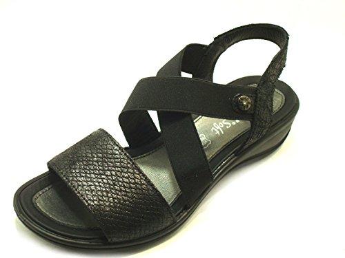 ENVAL SOFT DONNA Sandalo zeppa Art79680 Nero