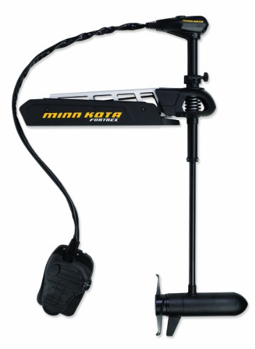 Minn Kota Fortrex 112 Motor with 45-Inch Shaft and 112-Pound Thrust, Black