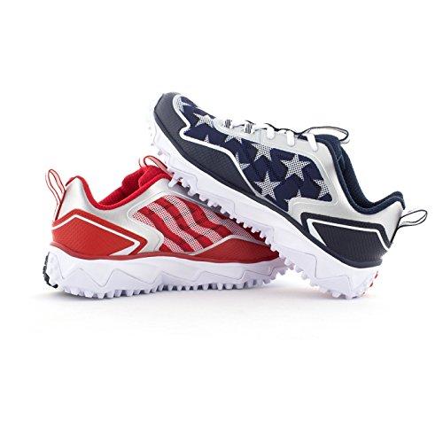 Boombah Men's Berzerk Turf Shoes - 13 Color Options - Multiple Sizes Navy/Red/White cheap wholesale price EToIRn