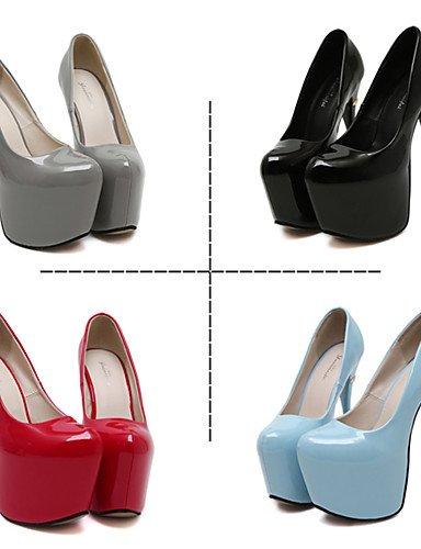 GGX/Damen Schuhe Fall Heels Rund Toe Heels Party & Abend/Kleid Stiletto Heel andere schwarz/blau/rot/ red-us5.5 / eu36 / uk3.5 / cn35