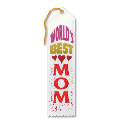 [World's Best Mom Ribbon] (Best Halloween Costumes For Moms)