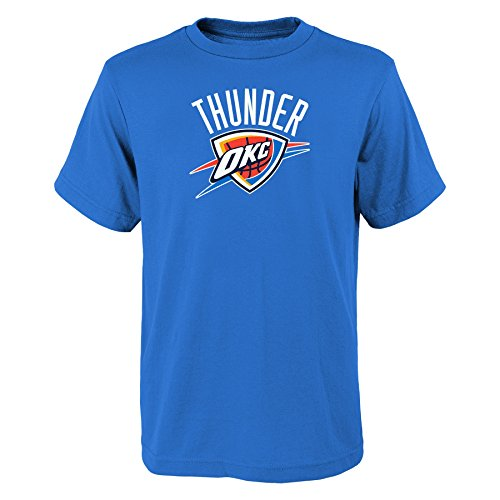 YOUTH Oklahoma City Thunder NBA primary logo T Shirt Light Blue M