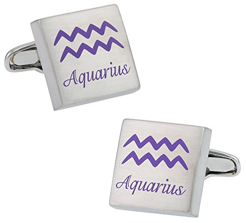 Cuff-Daddy Aquarius Horoscope Cufflinks with Presentation Box