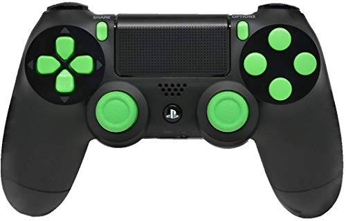 (Ps4 PRO Rapid Fire Custom Modded Controller 40 Mods for All Major Shooter Games, Quick Scope Sniper Breath & More CUH-ZCT2U (Black/Green))