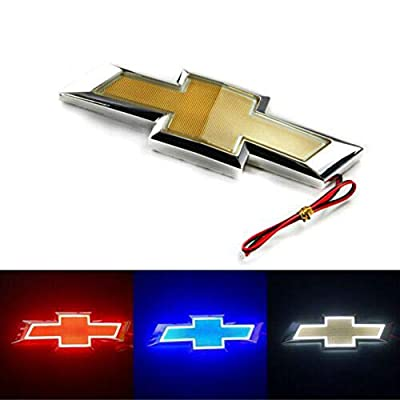 5D LED Car Tail Logo Light Badge Lamp Emblem For Chevrolet Holden Cruze Malibu EPICA CAPTIVA AVEO LOVR Fit for all Chevrolet of cars (blue): Automotive