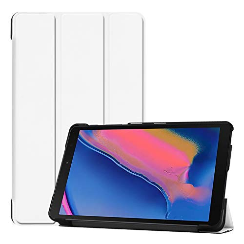 """Smart Case for Samsung Galaxy Tab A 8 (2019) P200 / P205, Ratesell Lightweight Smart Trifold Stand Case Cover for Samsung Galaxy Tab A 8 / Galaxy Tab A with S Pen 8.0"""" / Galaxy Tab A Plus 8 White"""