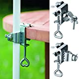 Table Balcony Umbrella Holder Clamp Garden Parasol Decking Holding Bracket Stand, 22-28 mm