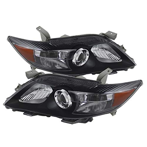 Xtune for 2010-2011 Camry SE JDM Black Headlights Front Lamps Direct Fit L+R Pair Left+Right
