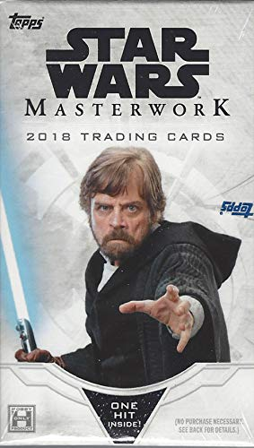 2018 Topps Star Wars 'Masterwork' Trading Card MINI box (5 cards incl. ONE Hit)