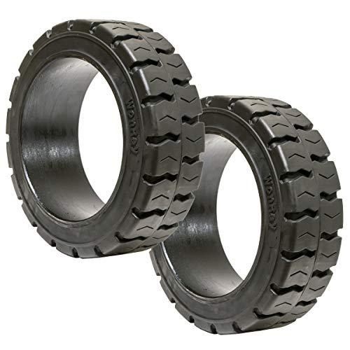 Set of 2 21x7x15 21x7-15 21715 21/7/15 Super Solid Flat Proof Forklift Fork Lift Tire