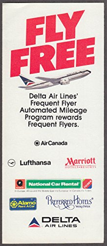 Delta Air Lines Fly Free Frequent Flyer Program Application airline mailer 1985 (Best Frequent Flyer Program)