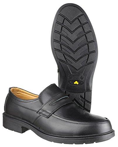 Synetic Textile Mens Doublé Amblers Steel Noir Slipon Chaussures LzMGVpSUq