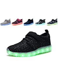 LED Light Up Shoes Kids Girls Boys Breathable Flashing Sneakers