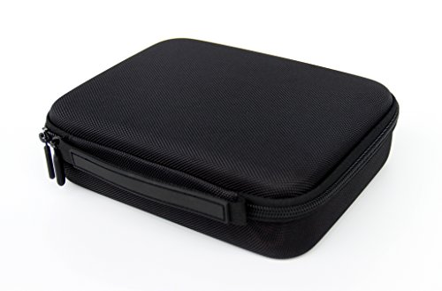 SHBC Portable Pocket Pistol Case with Rubber Handel,Compact Size and Foam Interior - Shockproof and Water Resistent - Fits Most Glock, Smith and Wesso