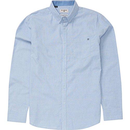 (Billabong Men's All Day Chambray Woven Shirts, Light Blue, Large)