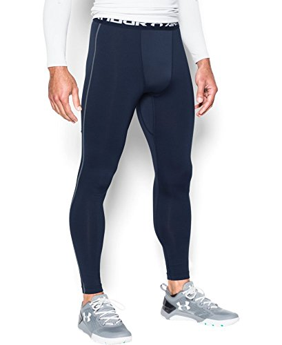Under Armour Men's ColdGear Armour Compression Leggings, Midnight Navy/Steel, Small