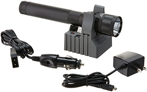 (Streamlight 75866 Stinger DS LED Flashlight, 120V AC/12V DC Steady Charger and 1 Holder -425 Lumens )