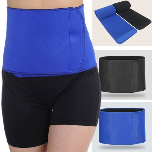 Marketworldcup-Waist Trimmer Exercise Wrap Belt Stomach Slimming Body Shaper Fat Weight Loss (Neo Skin Jumpsuit)