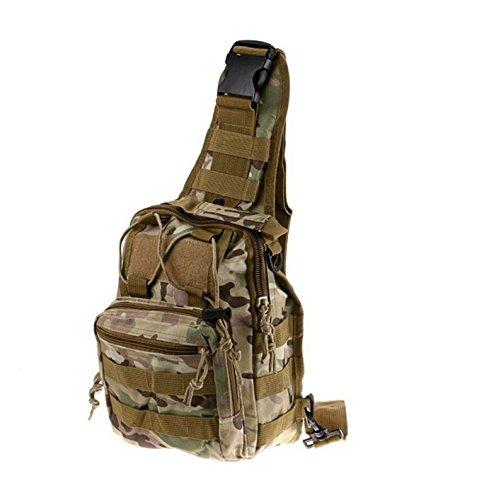 Honeysuck Wandern Tasche Rucksack Single Schulter Rucksack Camouflage