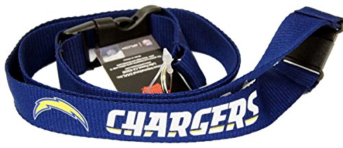 NFL Team Logo Key Chain Lanyard (Detachable Plastic Clip with Key Ring and Clip) (San Diego Chargers) (San Diego Ring Key Chargers)
