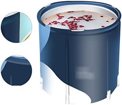 浴槽バレル成人用折りたたみ式浴槽家庭用断熱浴槽成人用浴槽折りたたみ式浴槽家庭用保温折りたたみ浴槽便利な収納 浴室用設備 (Color : Blue, Size : 70*68cm)