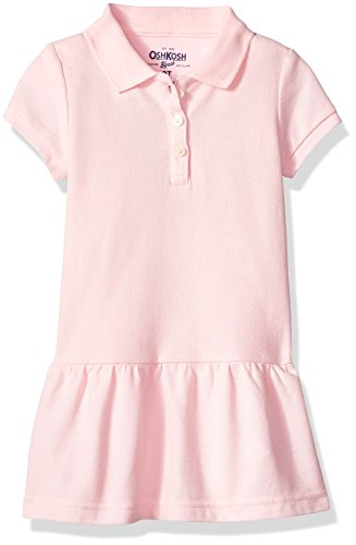 Oshkosh Kids Dress (Osh Kosh Toddler Girls' Polo Dress, Pink, 4T)