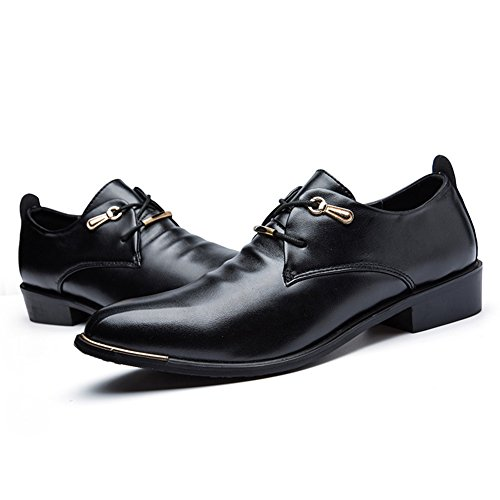 Insun Mens Mode Konstläder Oxford Loafers Svart