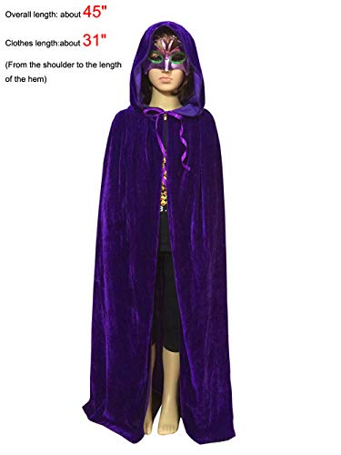 Magic Halloween Christmas Party Vampire Hooded Cloak Cosplay Dress Costume Cape (45