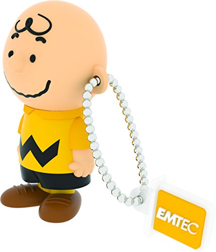"EMTEC USB Flash Drive 8GB Stick 2.0 Peanuts "" Charlie Brown "" 3D Design – PN 101"