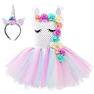 Unicorn Tutu Dress, Unicorn Birthday Outfit, Unicorn Headband,  Birthday Dress 5