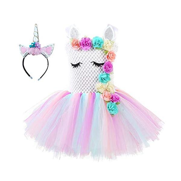 Unicorn Tutu Dress, Unicorn Birthday Outfit, Unicorn Headband, Birthday Dress 3