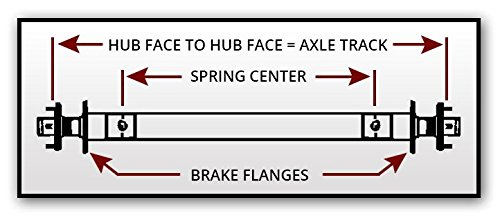 95 Hubface-80 Spring Center 3.5k-3500 Lb Capacity Trailer Axle Beam Only-Utility//RV//Boat