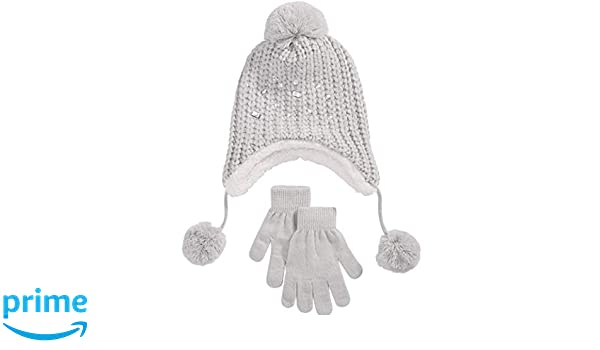 NEW winter wear warm Berkshire Girls Cat Beanie Hat and Glove gift Set 2 piece