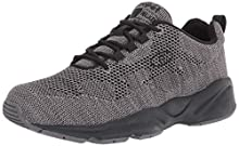 Propet Men's Stability Fly Sneaker, Dk Grey/Lt Grey