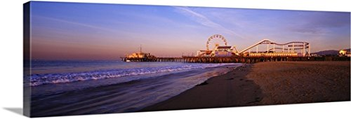 Canvas On Demand Premium Thick-Wrap Canvas Wall Art Print entitled California, Santa Monica - Monica Fabric Santa