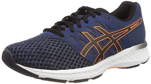 Asics Gel-Exalt 4, Chaussures de Running Homme Bleu (Dark Blue/Black/Shocking Orange 4990)