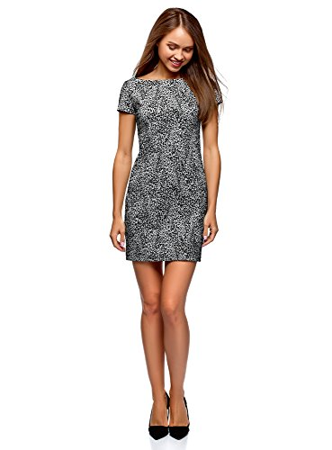 Printed Jersey Dress, Grey, 6 ()