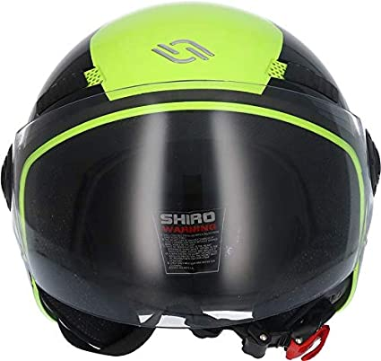 SHIRO Casco Jet Abierto SH-62 Oxford EVO Color Turquesa Talla M 001322-0099-M//449 001322-0099-M//449 SHIRO